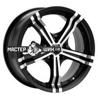 7*16 4*100 ET37 68 OZ Power Matt Black + Diamond Cut