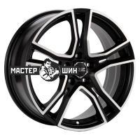 8*17 5*112 ET35 75 OZ Adrenalina Matt Black + Diamond Cut